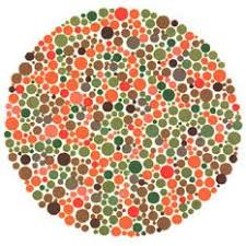 Ishihara test plate-28. Normal person will see nothing while people with Red-green deficiency will see a line