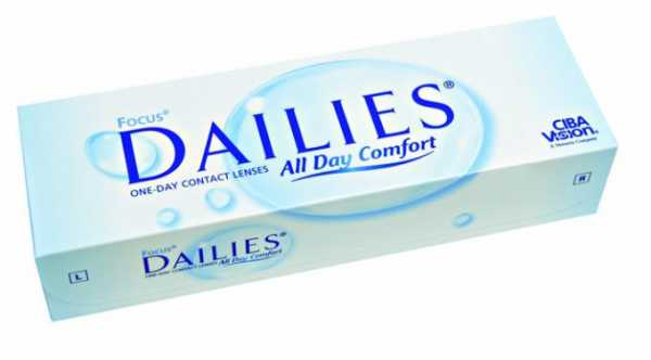 Focus Dailies lenses give you new eyes every day
