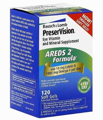 Treatments of Dry Age Related Macular Degeneration. Preservision Eye Vitamins Areds-2