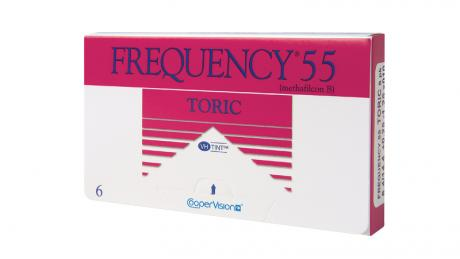 Frequency 55 Toric XR contacts can help with astigmatism