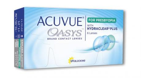Acuvue Oasys Lenses for presbyopia brings a new hope for sufferers of this condition