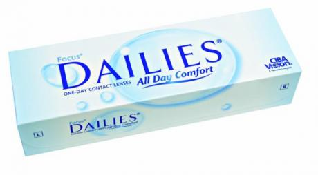Focus Dailies Contact Lenses Come with AquaRelease